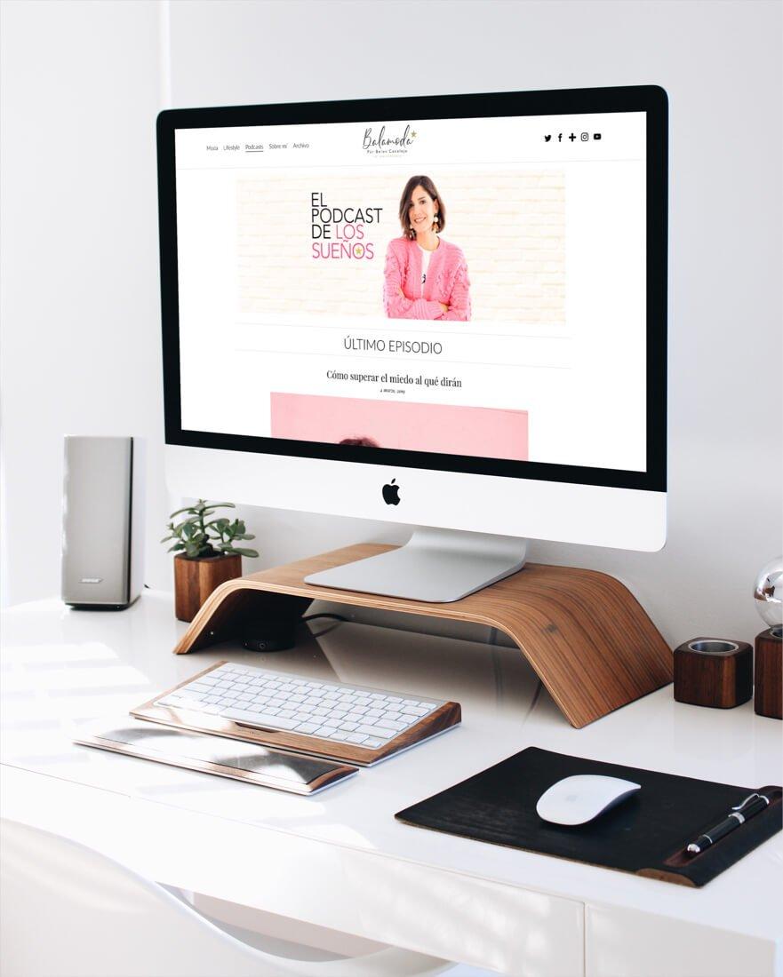 Diseño y desarrollo web del blog Balamoda responsive