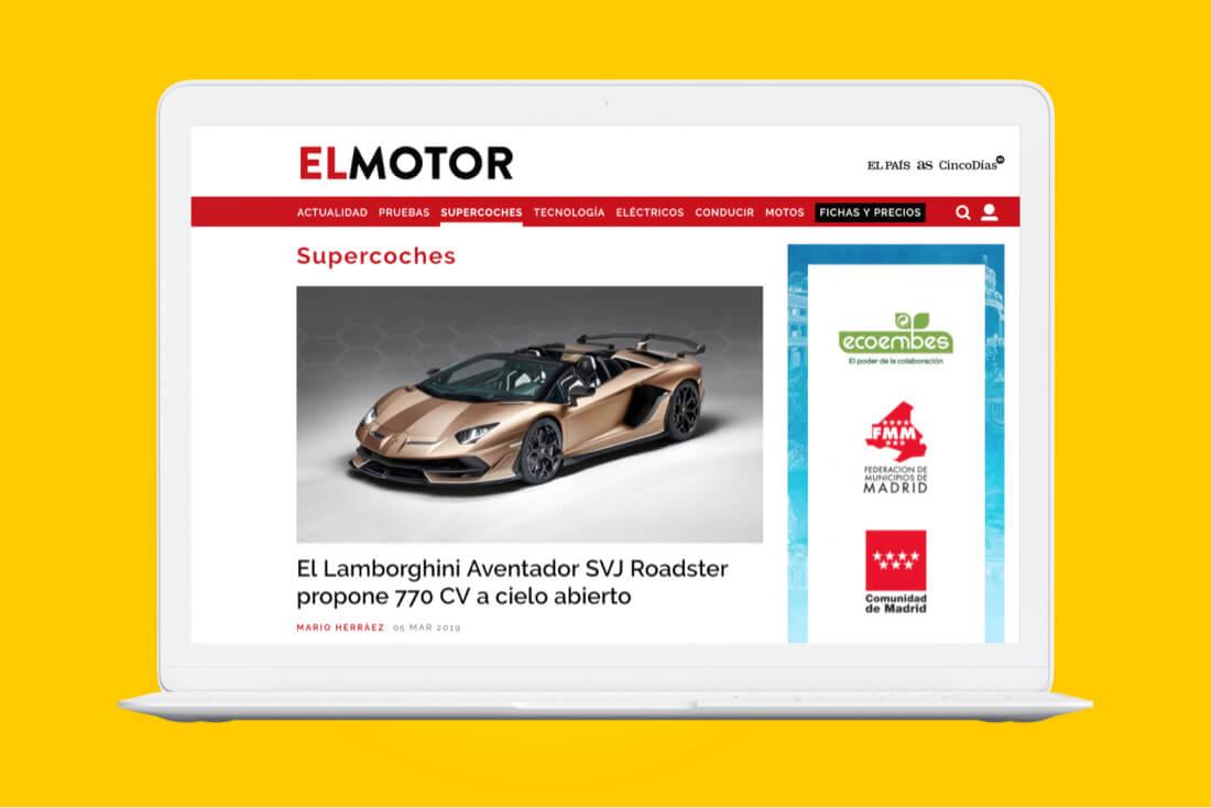 Desarrollo web El Motor para El País - responsive