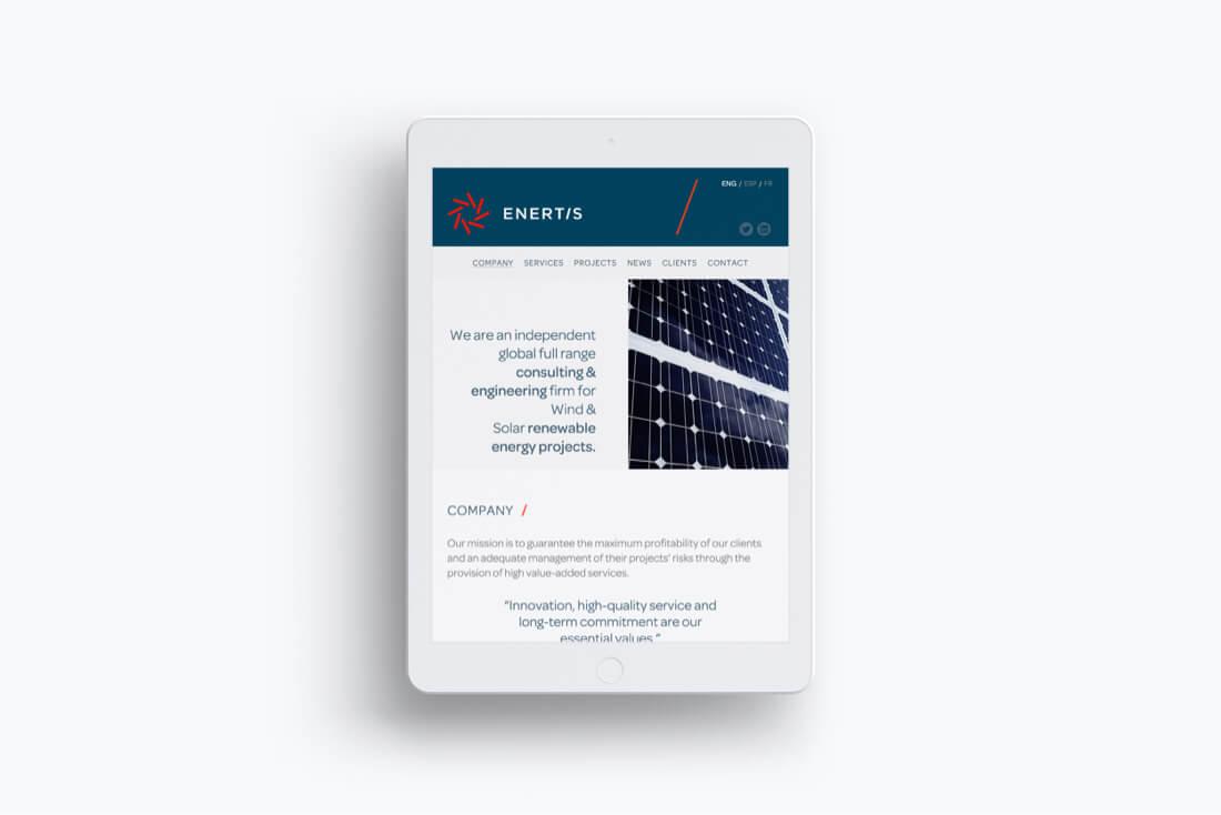 Enertis desarrollo web tableta