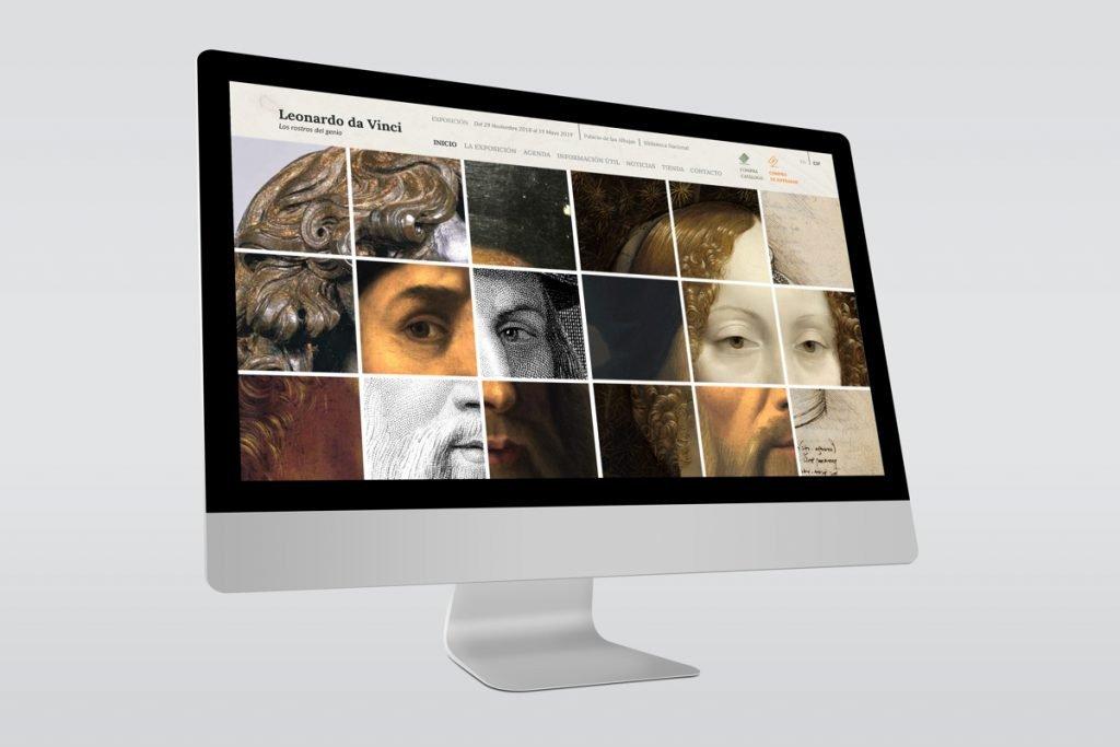 Web de la Exposición Leonardo da Vinci en Madrid