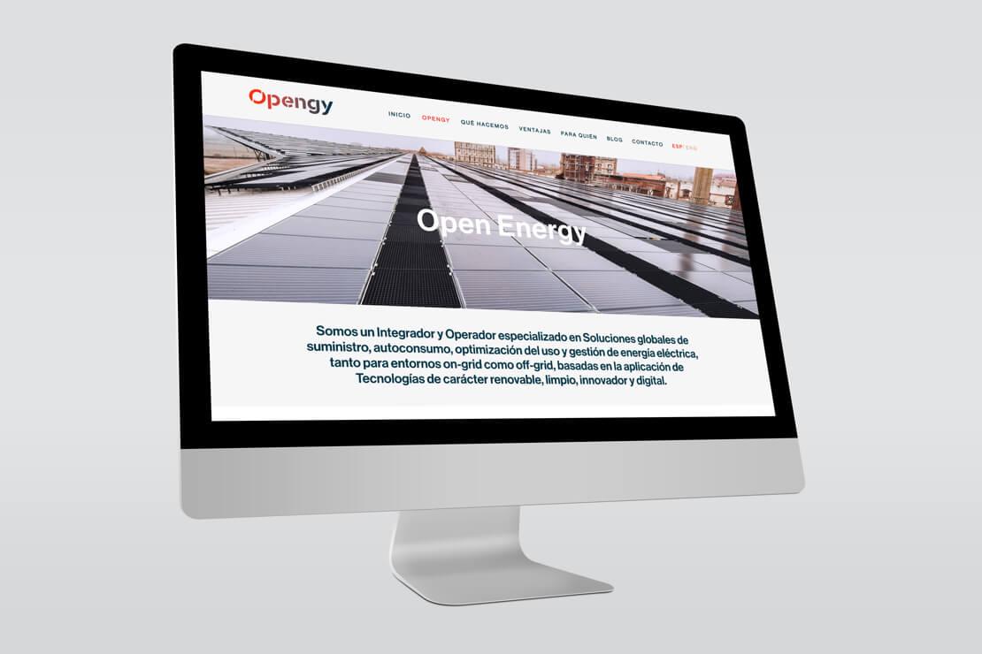 Desarrollo de la web de Opengy desktop