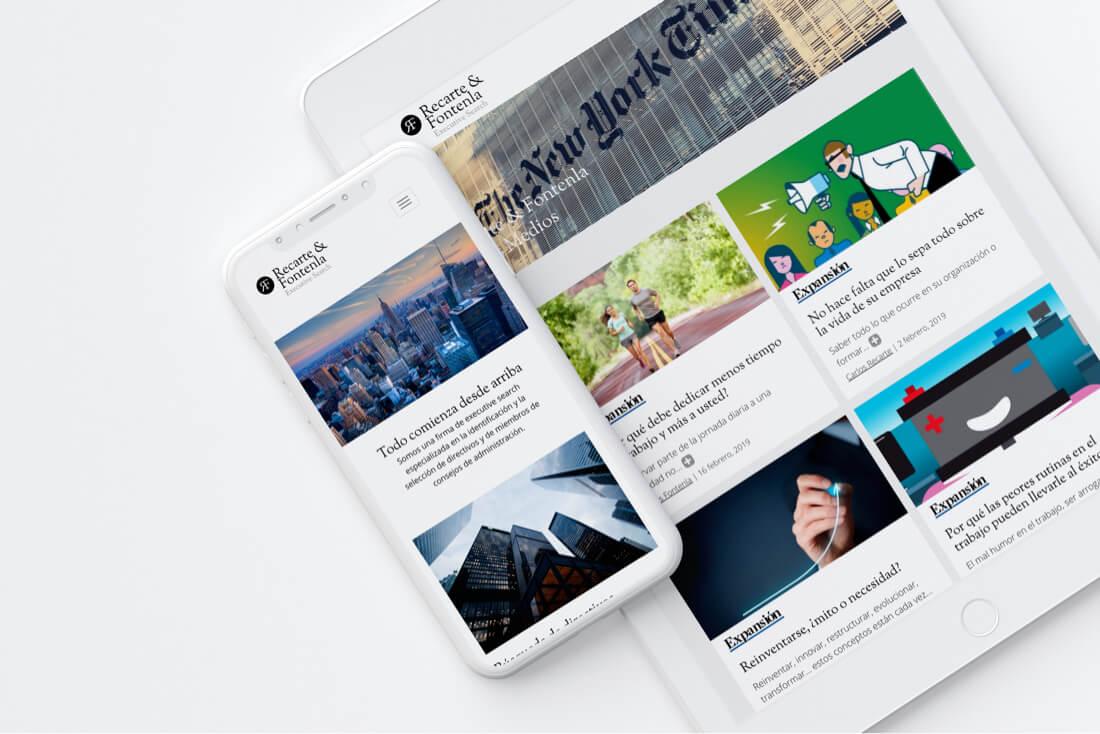 Desarrollo web Tablet y Móvil Recarte & Fontenla Executive Search
