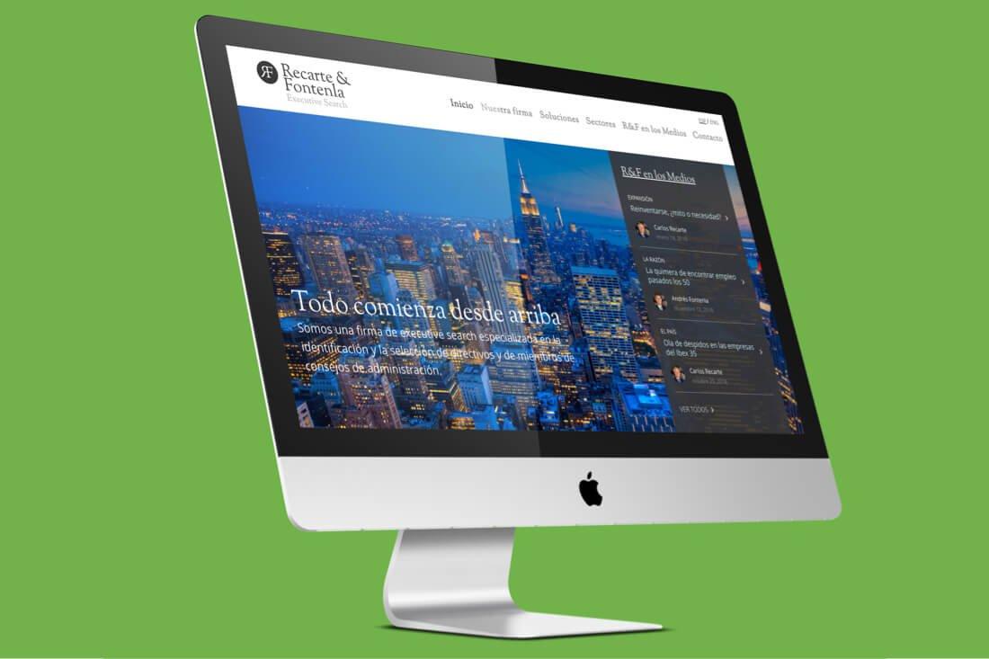 Diseño y Desarrollo de la web de Recarte & Fontenla