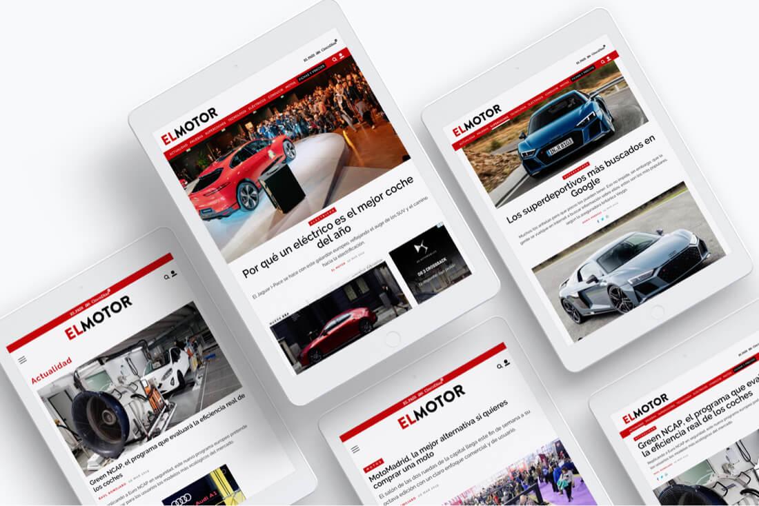 Desarrollo web El Motor para El País - Tableta