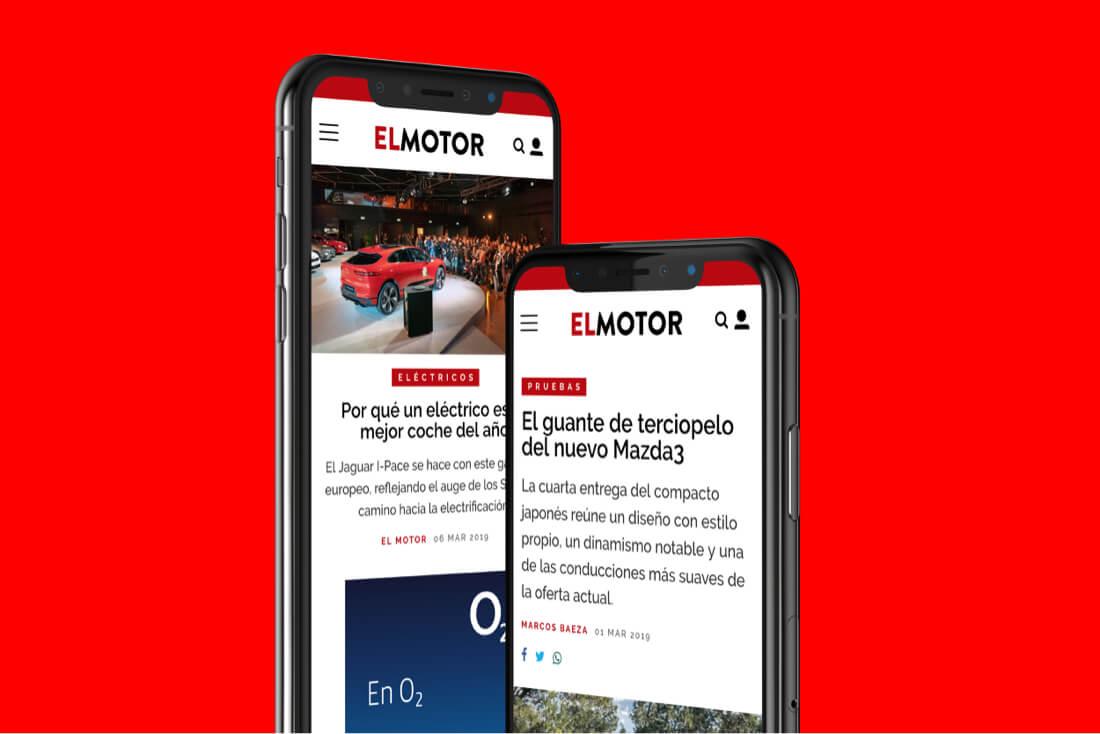 Desarrollo web El Motor para El País - móvil